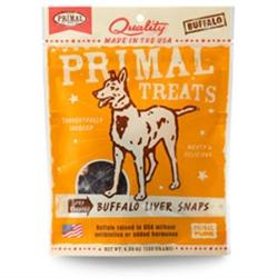 Primal Buffalo Liver Snaps Dry Roasted Dog Treats 4.25 oz