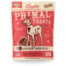 Primal Chicken Shredders Dry Roasted Dog Treats 4 oz