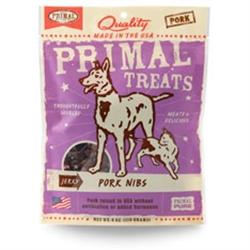 Primal Jerky Pork Nibs Dog & Cat Treats 4 oz