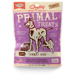 Primal Jerky Turkey Nibs Dog & Cat Treats 4 oz