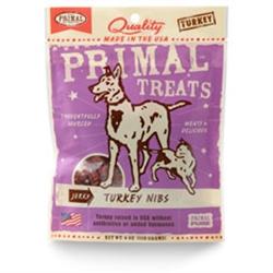 Primal Jerky Turkey Nibs Dog & Cat Treats 4 oz