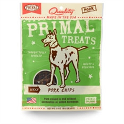 Primal Jerky Pork Chips Dog Treats 3 oz