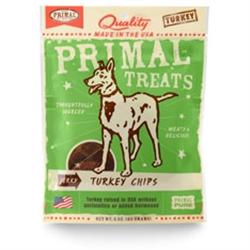 Primal Jerky Turkey Chips Dog Treats 3 oz