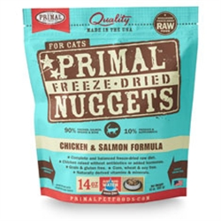 Primal Pet Foods Freeze Dried Food For Cats 14 oz - Chicken Salmon