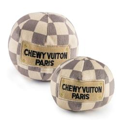 Checker Chewy Vuiton Plush Ball Toy
