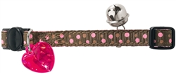 Pink Dots Nylon Cat Collar by HUNTER