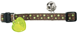 Green Dots Nylon Cat Collar by HUNTER