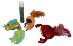 "MultiPet - 5"" Crab/Fish/Mouse w/Refillable Catnip Tube"