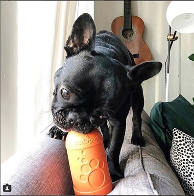 SodaPup Beer Bottle Treat Dispenser - Large - Orange Squeeze
