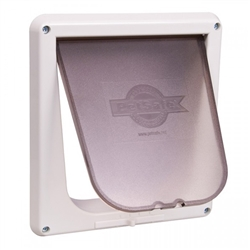 4-Way Locking Cat Door in White