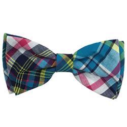 Blue Madras Bow Tie by Huxley & Kent