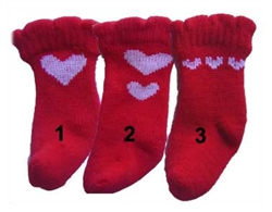 Heart Red Socks