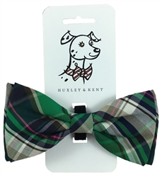 Green Madras Bow Tie by Huxley & Kent