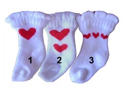 Heart White Socks