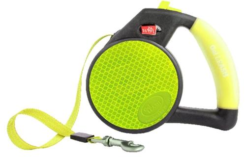 Reflective Yellow Retractable Gel Leash