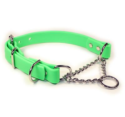 Green SoftGrip Adjustable Martingale Chain Collar