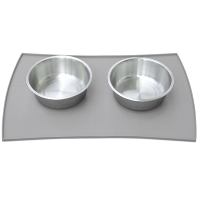 Pet Food Mat in Premium FDA Grade Silicone - 3 Sizes (Gray only) (Case of 4)