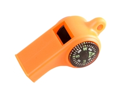 Sportsman's Whistle w/Compass & Temp Gauge