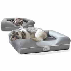 Ultimate Dog Bed & Lounge (Slate Gray) Small/Lrg/XL