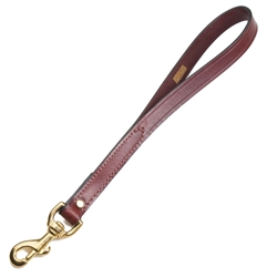 "Leather Traffic Lead - Chestnut - 3/4"" w x 12"""
