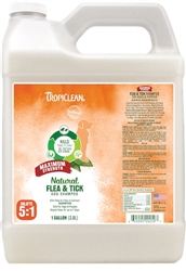 Tropiclean Natural Flea and Tick Shampoo Maximum Strength Gallon