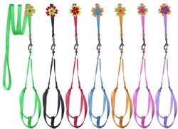 Dogline Step-In Nylon Harness + Optional Flower Leash