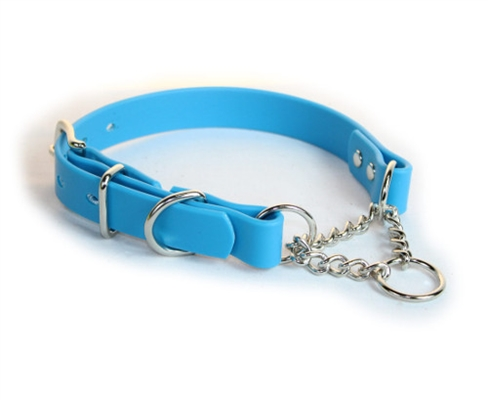 Blue SoftGrip Adjustable Martingale Chain Collar