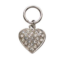 Pave Clear Heart Unity™ Pet Charm
