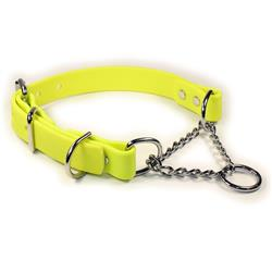 Yellow SoftGrip Adjustable Martingale Chain Collar