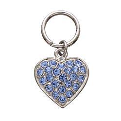 Pave Blue Heart Unity™ Pet Charm