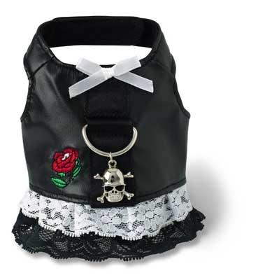 Black Biker Harness Dress