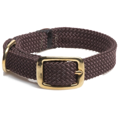 Double Braid Junior Collar - Brass Hardware
