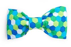 Bow Tie - Green/Blue/Lime Honeycomb