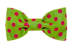 Bow Tie - Green/Red Dots