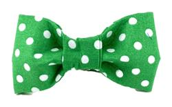 Bow Tie - Green/White Dots