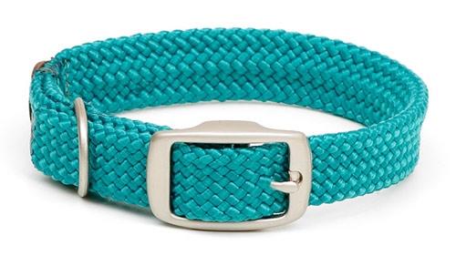 Double Braid Collar - Brushed Nickel & Black Ice Hardware
