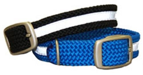 Double Braid Reflective Collar - Brushed Nickel Hardware