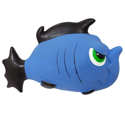 "7.5"" Angry Blue Fish Premium Stuffed Latex Dog Toys"
