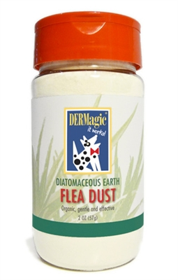 Flea Dust by DERMagic - Made with food-grade diatomaceous earth!