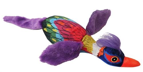 """19"""" Mardi Gras Bird Plush Dog Toys"""