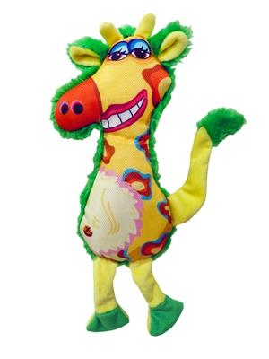 """13""""  Gina Giraffe Plush Dog Toys"""