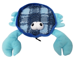 "10.5"" Blue Claw Crab Plush Dog Toys"
