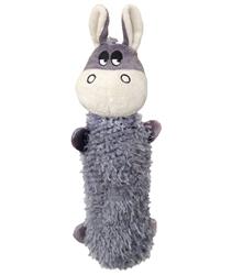 "11"" Debbie Donkey Crackly Crunchers Water Bottle Dog Toys"
