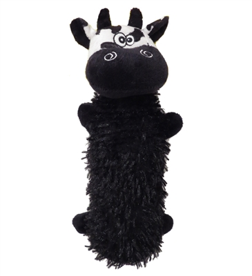 """11"""" Christopher Cow Crackly Crunchers Water Bottle Dog Toys"""