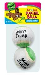 2 Pack Mint Flavor Scoochie Poochie Tennis Balls