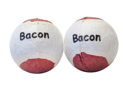 2 Pack Bacon Flavor Scoochie Poochie Tennis Balls