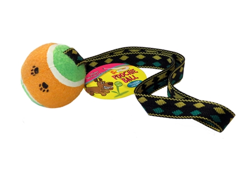 Scoochie Poochie Tennis Ball With Tug Strap
