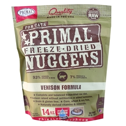 Primal Pet Foods Freeze Dried Food For Cats 14 oz - Venison