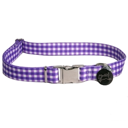 Gingham Purple Southern Dawg Collection