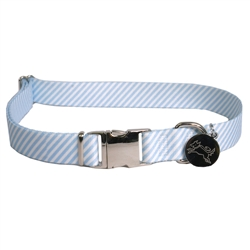 Seersucker Light Blue Southern Dawg Collection